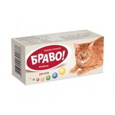 """Вітаміни """"Браво"""" для котів - 60 таб."""